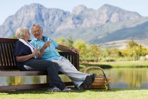 Mature Couple at Park