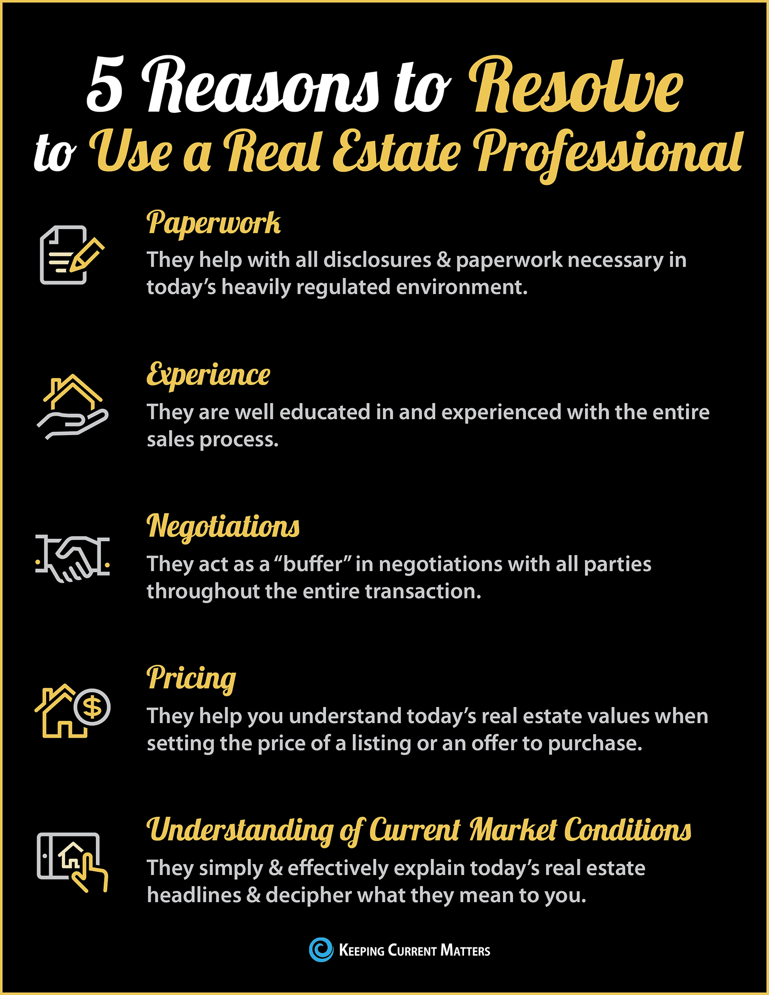 5 Reasons to Resolve to Hire a Real Estate Professional [INFOGRAPHIC] | Keeping Current Matters