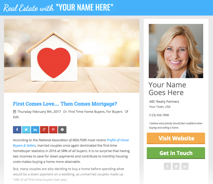 Have You Set Up Personalized Posts Yet?   Keeping Current Matters